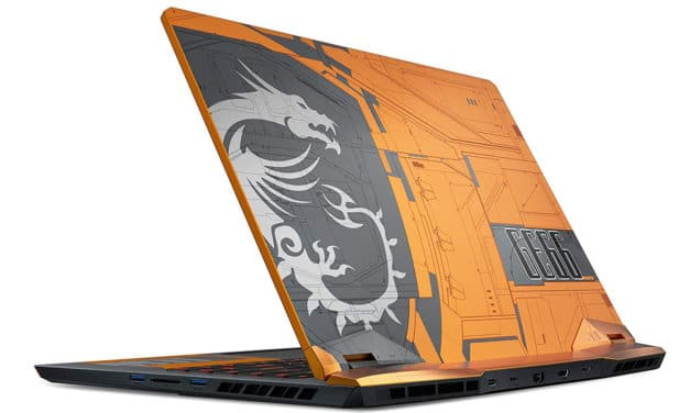 "MSI GE66 10SFS-461FR, PC portable 15"" 300Hz gamer orange/gris RTX 2070 Super SSD 1 To Octo Core (2519€)"