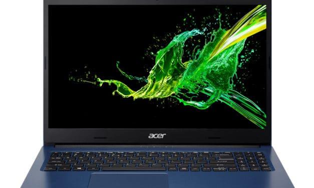 """Acer Aspire 3 A315-55G-55UT, Ultrabook 15"""" polyvalent bleu rapide léger et fin (699€)"""