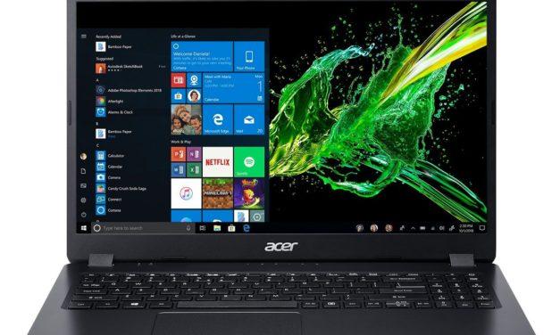 "Acer Aspire 3 A315-56-3804, Ultrabook 15"" noir sobre fin léger et rapide avec SSD (599€)"