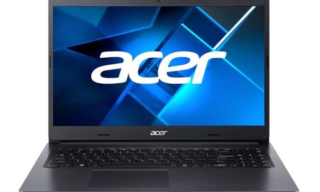 """Acer Extensa 15 EX215-22-R3GV, PC portable 15"""" noir Pro polyvalent rapide fin et léger avec SSD (639€)"""