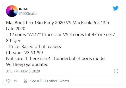 Apple MacBook Pro 13 pouces Apple Silicon A14Z 12 cœurs