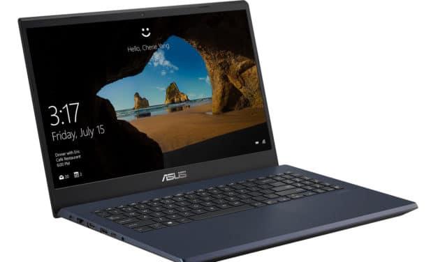 """Asus FX571GT-AL894T, PC portable 15"""" polyvalent rapide gamer noir/bleu GTX 1650 Optane léger (899€)"""