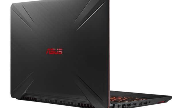 Asus TUF Gaming TUF505GT-BQ202T(BQ086T), PC portable polyvalent gamer rapide et léger avec GTX 1650 (799€)