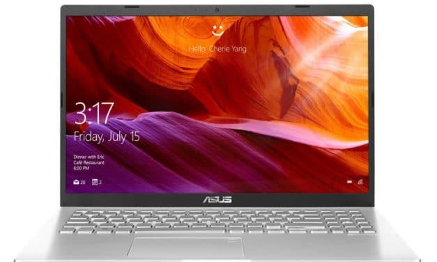"""<span class=""""nouveau"""">Nouveau 449€</span> Asus R509FA-EJ927T, PC portable 15"""" Full HD argent pas cher léger et rapide avec SSD"""