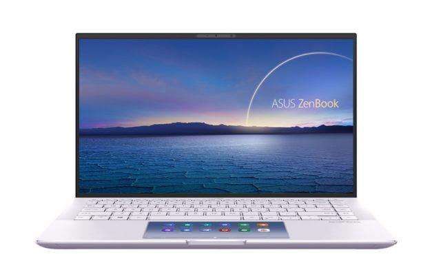 "Asus ZenBook 14 UX435EG(L), Ultrabooks 14"" 1Kg polyvalent Tiger Lake Iris Xe et GeForce MX450 avec Thunderbolt 4 et ScreenPad ou NumPad"