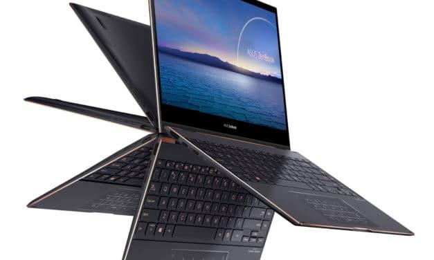 """<span class=""""nouveau"""">Nouveau 1999€</span> Asus ZenBook Flip S UX371EA-HL250T, Ultrabook 13"""" 850gr OLED 4K tactile > Tablette polyvalent créateurs Tiger Lake Iris Xe NumPad TB4"""