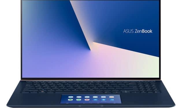 Asus Zenbook UX534FA-A8187T, ultrabook 15 pouces léger, élégant et rapide avec ScreenPad (1109€)
