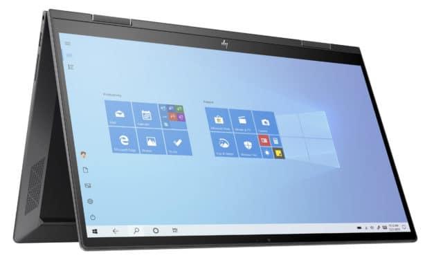 """HP Envy x360 15-ee0006nf, PC portable 15"""" tactile > Tablette polyvalent AMD rapide fin et léger 9h (909€)"""