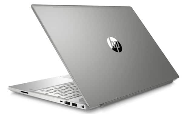 """HP 15-cw1031nf, PC portable 15"""" Full HD polyvalent argent pas cher rapide fin et léger Quad Core avec SSD (564€)"""