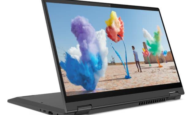 "Lenovo IdeaPad Flex 5 14IIL05-957 (81X100MYFR), Ultrabook 14"" 2-en-1 tactile > Tablette argent fin rapide et léger 8h (599€)"