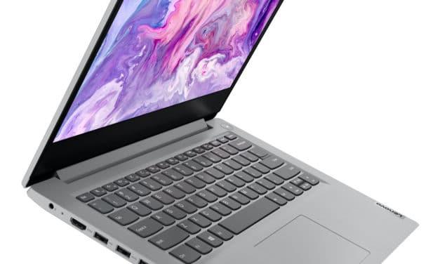Lenovo IdeaPad 3 14ADA05, ultrabook 14 pouces bureautique rapide et pas cher (494€)