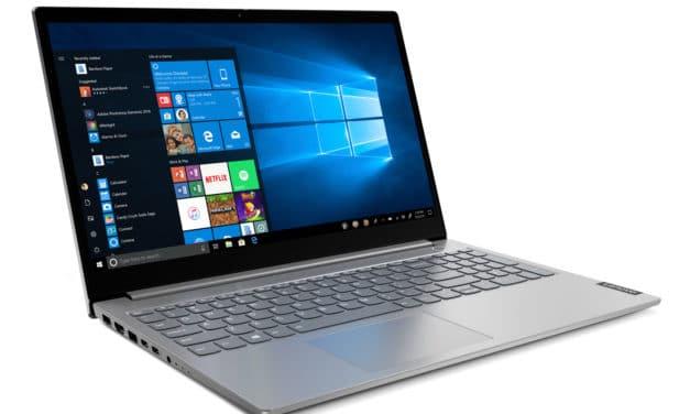 """Lenovo ThinkBook 15 IIL (20SM0076FR), Ultrabook 15"""" Full HD argent pas cher rapideléger avec 2 USB-C et clavier rétro éclairé (499€)"""
