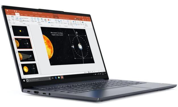 """<span class=""""nouveau"""">Nouveau 1099€</span> Lenovo Yoga Slim 7 14ARE05, ultrabook 14 pouces fin, léger et puissant Ryzen 7 Octo Core"""