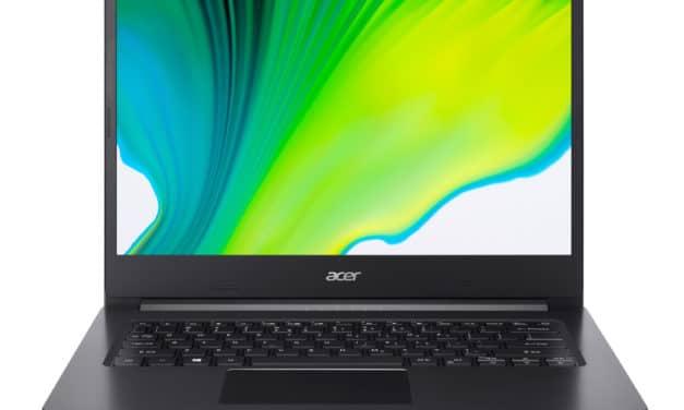 """Acer Aspire 3 A314-22-R25J, PC portable 14"""" polyvalent noir pas cher AMD rapide fin et léger (524€)"""