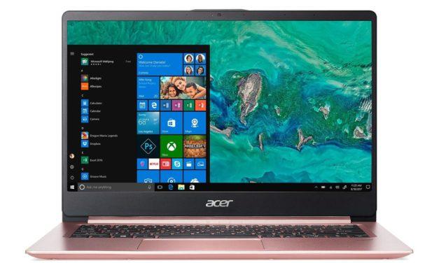 Acer Swift 1 SF114-32-P0JB, 14 pouces rose léger, rapide et silencieux avec longue autonomie (557€)