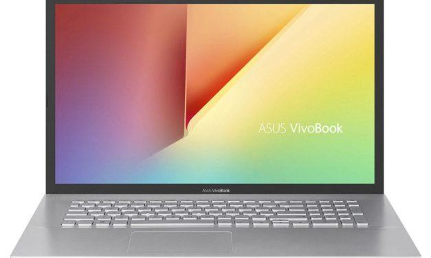 Asus Vivobook S712DAM-BX512T, PC portable 17 pouces fin et élégant pour bureautique (629€)
