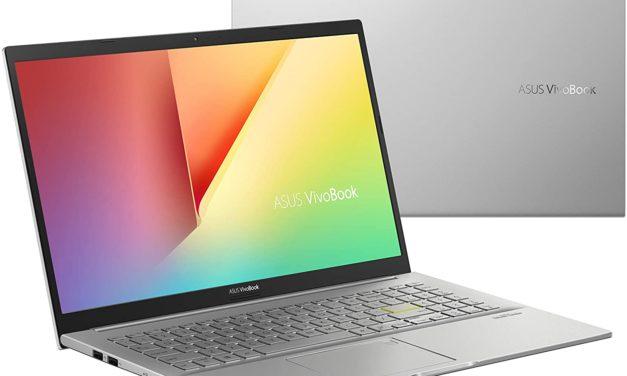 """Asus Vivobook S433FA-EK794T, Ultrabook 14"""" argent léger fin et rapide avec SSD et Optane (879€)"""