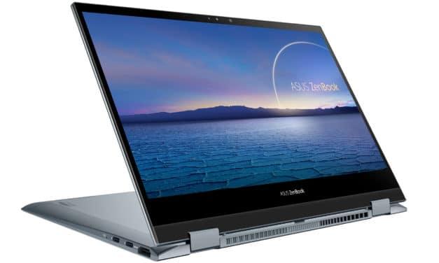 """<span class=""""nouveau"""">Nouveau 1499€</span> Asus ZenBook Flip 13 UX363EA-HP145T, Ultrabook 13"""" OLED Pantone tactile > Tablette polyvalent Tiger Lake Iris Xe TB4"""