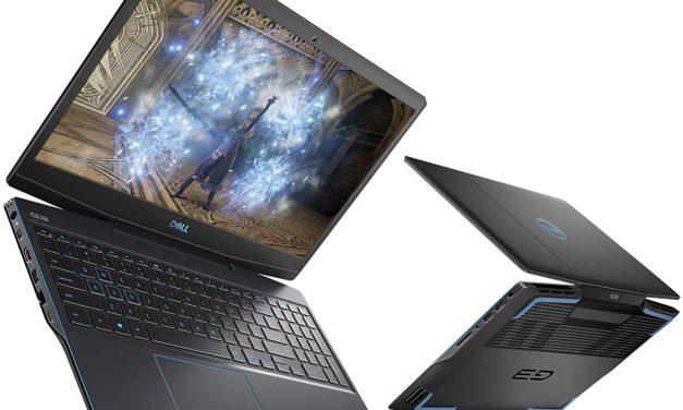 "Dell G3 15 3500-853, PC portable 15"" 120Hz gamer noir/bleu GTX 1660 Ti avec Thunderbolt (1199€)"