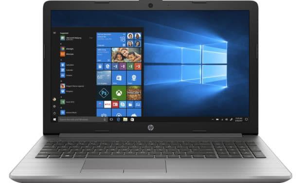 """HP 250 G7 (1F3N2EA), PC portable 15"""" argent polyvalent léger Iris G7 avec gros stockage et graveur CD/DVD (671€)"""