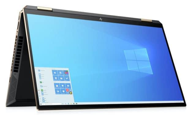 HP Spectre x360 15-eb0012nf, 15 pouces Tablette premium OLED 4K polyvalent et puissant GTX (1749€)