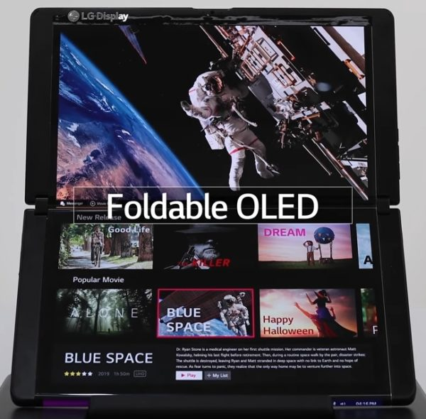 LG OLED 13 pouces pliable CES 2021