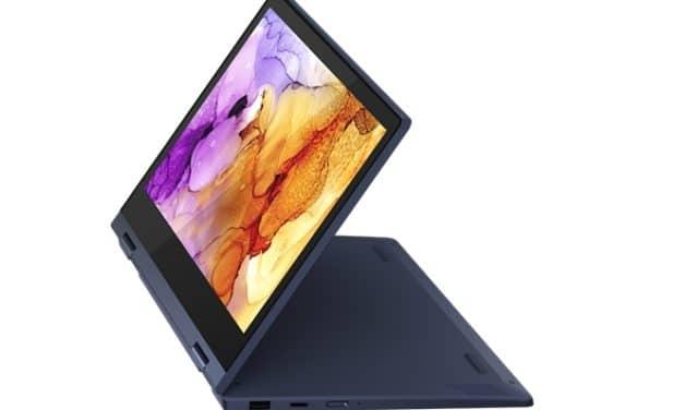 """Lenovo IdeaPad Flex 3 11ADA05, ultraportable 11"""" 2-en-1 Tablette AMD d'entrée de gamme bleu ou argent"""
