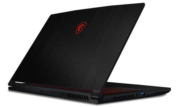 """MSI GF63 10SCXR-1406FR Thin, Ultrabook 15"""" 144Hz gamer noir GTX 1650 Max-Q fin et léger Wi-Fi ax (830€)"""