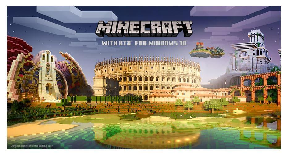 Minecraft RTX sur PC portable gamer