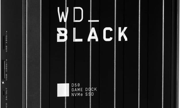 WD Black D50 Game Dock NVMe, station d'accueil Thunderbolt 3 avec SSD jusqu'à 2 To intégré
