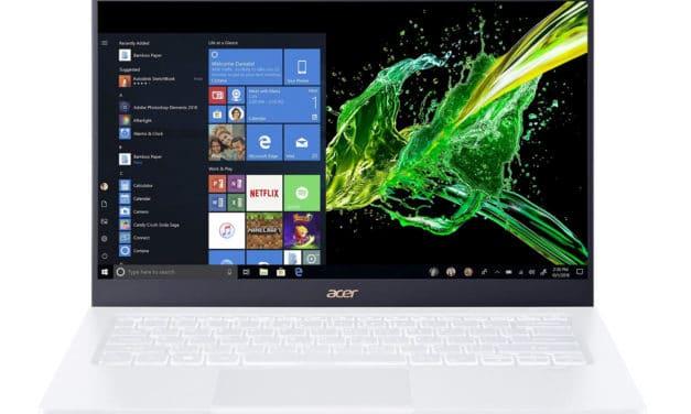 Acer Swift 5 SF514-54GT-726Y, ultrabook blanc très léger 14 pouces productif avec MX350 (999€)