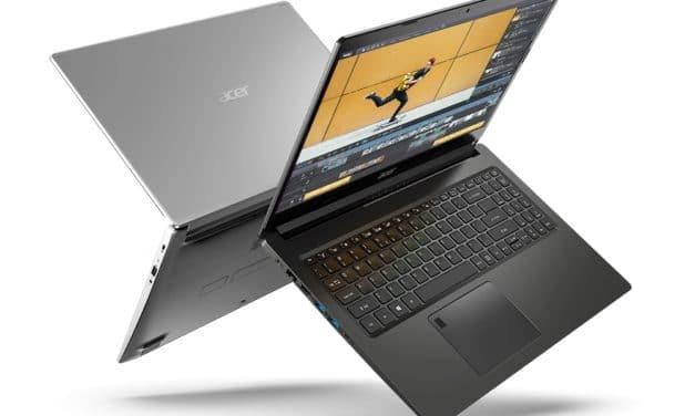 """<span class=""""tagtitre"""">CES 2021 - </span>Acer Aspire 5 et Aspire 7, nouveaux PC portables AMD Ryzen 5000 fins et légers avec Wi-Fi ax, GeForce GTX 1650 ou Radeon RX 640"""
