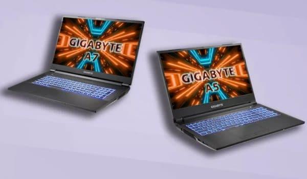 CES 2021 Gigabyte A5 A7 AMD Cezanne Ryzen 5000H GeForce RTX 3000 Ampere