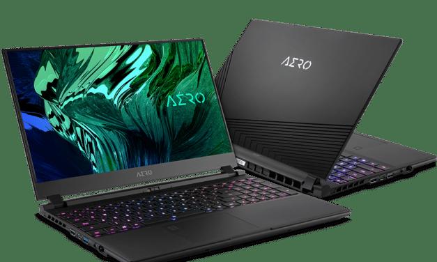 "<span class=""tagtitre"">CES 2021 - </span>Gigabyte Aero 15 (OLED) et Aero 17 (HDR), PC portables gamer Ultrabooks 15"" et 17"" avec GeForce RTX 3080 Ampere"