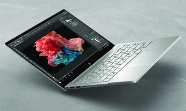 """<span class=""""tagtitre"""">CES 2021 - </span>HP Envy 14, Ultrabook Tiger Lake argent fin et léger avec GeForce GTX pour créer, autonomie 16h30"""