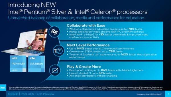 CES 2021 Intel Jasper Lake Atom Tremont