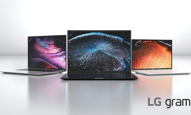 """<span class=""""tagtitre"""">CES 2021 - </span>LG Gram: Ultrabook 14"""", 16"""" et 17"""" (2-en-1) sous Tiger Lake et Iris Xe avec Thunderbolt 4, 999 grammes"""