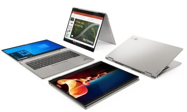 "<span class=""tagtitre"">CES 2021 - </span>Lenovo ThinkPad X1 Titanium Yoga, Ultrabook 13"" 2K 2-en-1 tactile > Tablette au format 3:2 avec Intel Tiger Lake vPro Iris Xe et 5G, 11h"