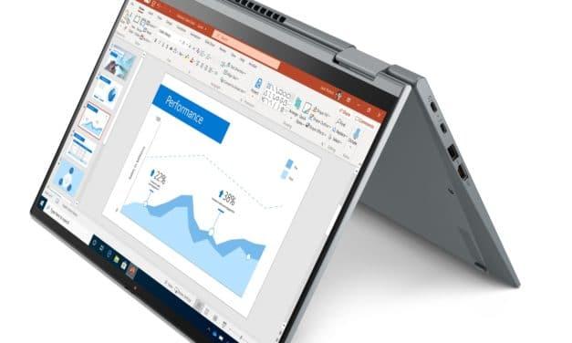 """<span class=""""tagtitre"""">CES 2021 - </span>Lenovo ThinkPad X1 Yoga Gen6 2-en-1 Tablette et X1 Carbon Gen9, Ultrabooks 14"""" 4K Tiger Lake vPro Iris Xe TB4 16h 5G"""