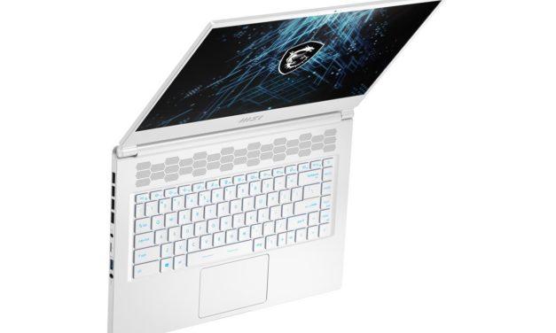 "<span class=""tagtitre"">CES 2021 - </span>MSI Stealth 15M, Ultrabook gamer 15"" blanc ou argent avec Tiger Lake-H et GeForce RTX 3060 Ampere"