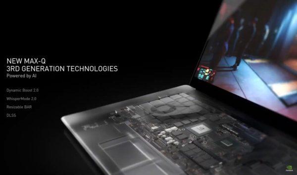 CES 2021 NVIDIA Ampere 8nm GeForce RTX 3000 PC portables gamer Max-Q
