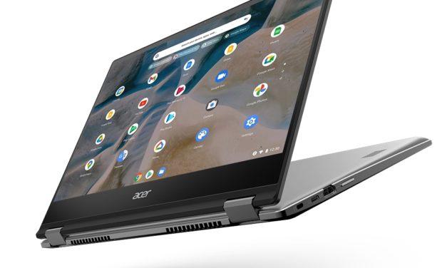 """<span class=""""tagtitre"""">CES 2021 - </span>Acer présente le Chromebook Spin 514 avec AMD Ryzen 3000"""