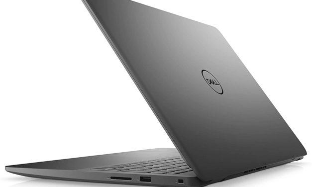 """<span class=""""nouveau"""">Nouveau 449€</span> Dell Inspiron 15 3505, PC portable 15 pouces noir pas cher AMD fin et léger avec gros stockage"""