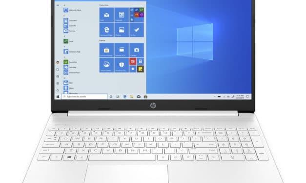"""HP 15s-eq1025nf, PC portable 15"""" blanc pas cher léger fin et rapide paré pour la Haute Définition avec SSD 512 Go (599€)"""