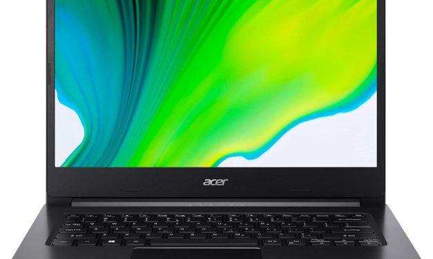 """Acer Aspire 3 A314-22-R62K, PC portable 14"""" noir polyvalent pas cher AMD fin et léger avec SSD (549€)"""