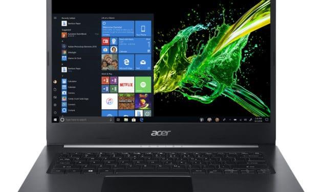 "Acer Aspire 5 A514-53-5668, Ultrabook 14"" noir fin léger et rapide avec SSD 512 Go Wi-Fi ax 9h (699€)"