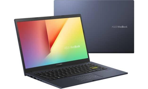 """Asus VivoBook S14 X413JA-EK320T, Ultrabook 14"""" rapide sombre fin et léger Wi-Fi ax et NumPad + sacoche et souris (699€)"""