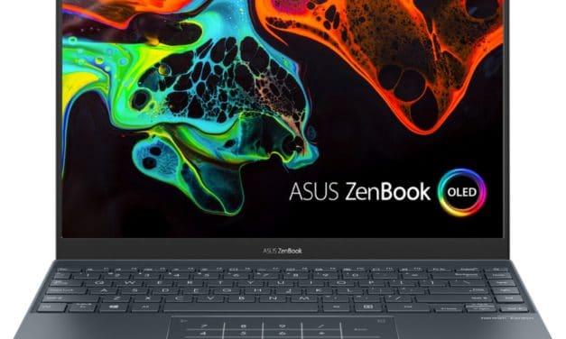 """<span class=""""promo"""">Promo 1039€</span> Asus ZenBook UX325EA-KG308T, ultrabook 13 pouces avec écran OLED, léger et endurant"""