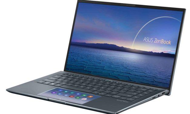 Asus Zenbook UX435EA-A5010T, ultrabook 14 pouces productif avec ScreenPad (1199€)