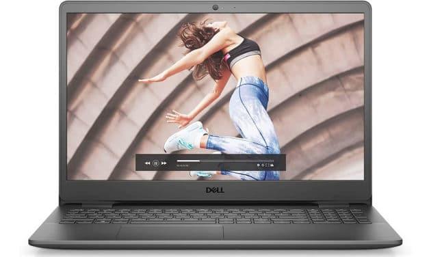 """<span class=""""nouveau"""">Nouveau 629€</span> Dell Inspiron 15 3501-581, Ultrabook 15"""" noir polyvalent pas cher léger rapide et fin nomade 7h avec SSD"""